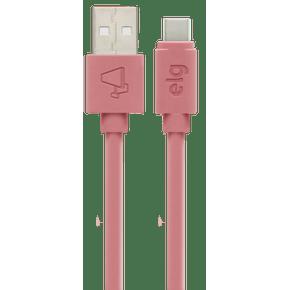 CABO-USB-TIPO-C-3A---15W-CARGA-RAPIDA---CABO-5X-MAIS-RESISTENTE---RECARGA-E-SINCRONIZACAO---15-METRO---TC15PKMAX---ROSA---ELG-
