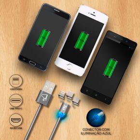 Cabo-de-Recarga-3-em-1---Pontas-Magneticas---Apple-Lightning---USB-Tipo-C---Micro-USB---15m---PW315MBS---CINZA---ELG