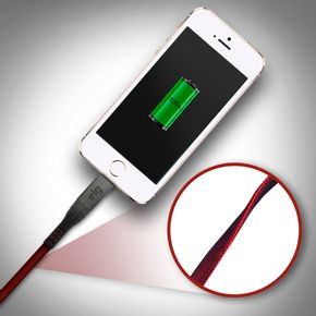 Cabo-Lightning-Canvas-Duo-Colors---Conectores-em-Aluminio---Recarga-e-Sincronizacao---1-metro---L810RD---VERMELHO---PRETO---ELG